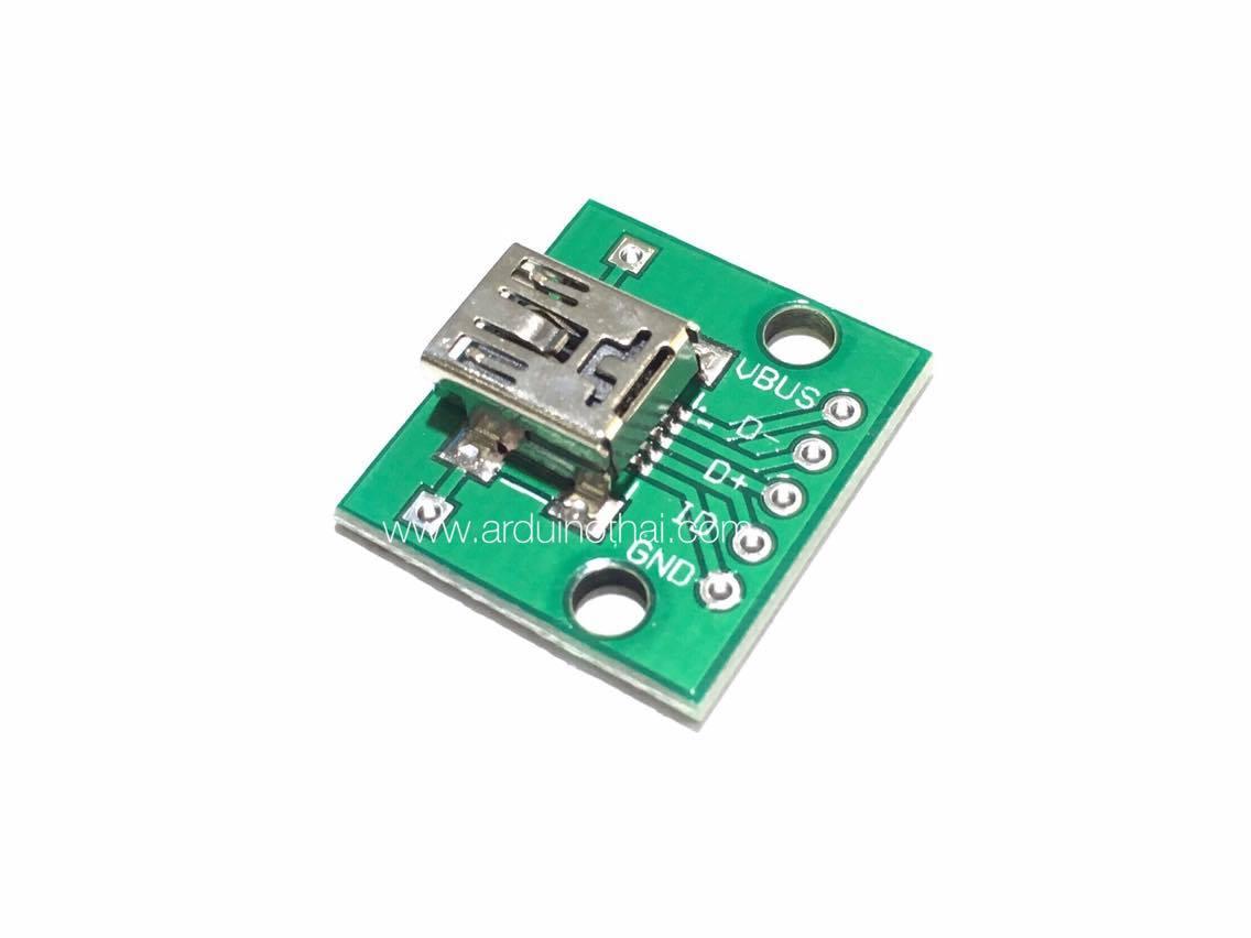 USB female MINI-5P 2.54mm