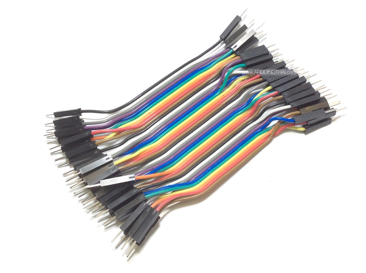 Jump Wire (Male to Male) ยาว 10 cm. จำนวน 40 เส้น