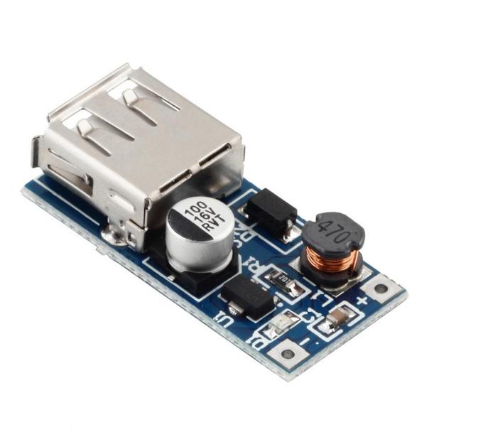 DC-DC Booster Module USB Mobile (แปลงไฟ 0.9 - 5 เป็น 5V)