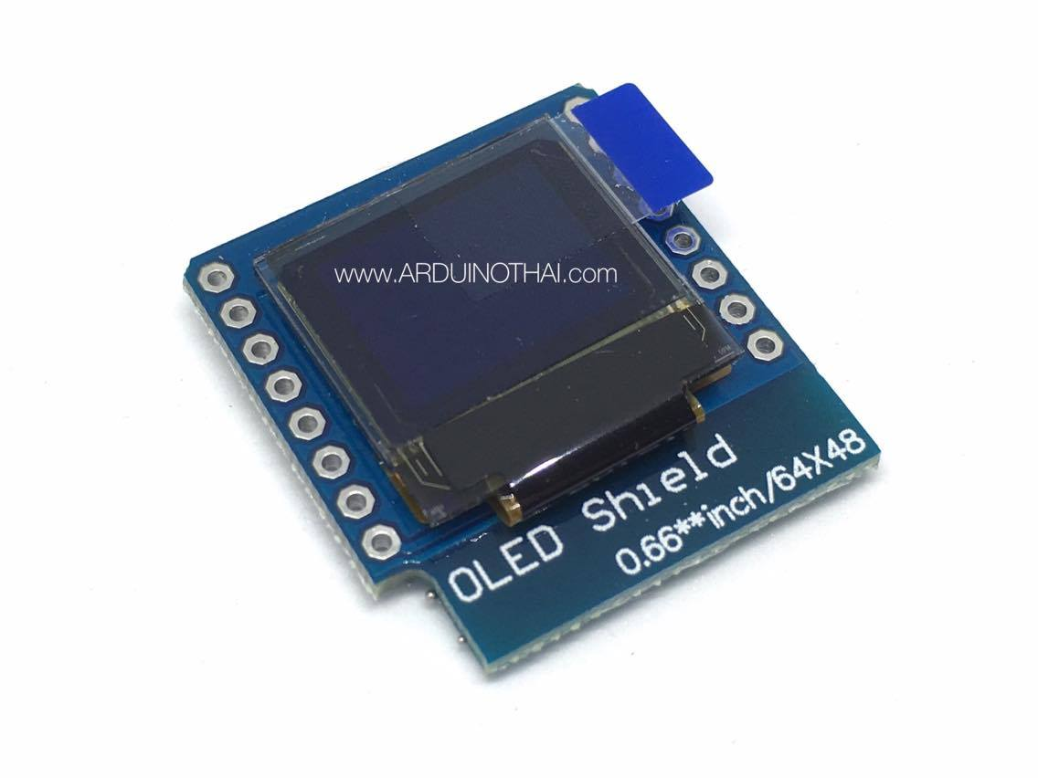 0.66 inch OLED display module I2C interface for D1 mini