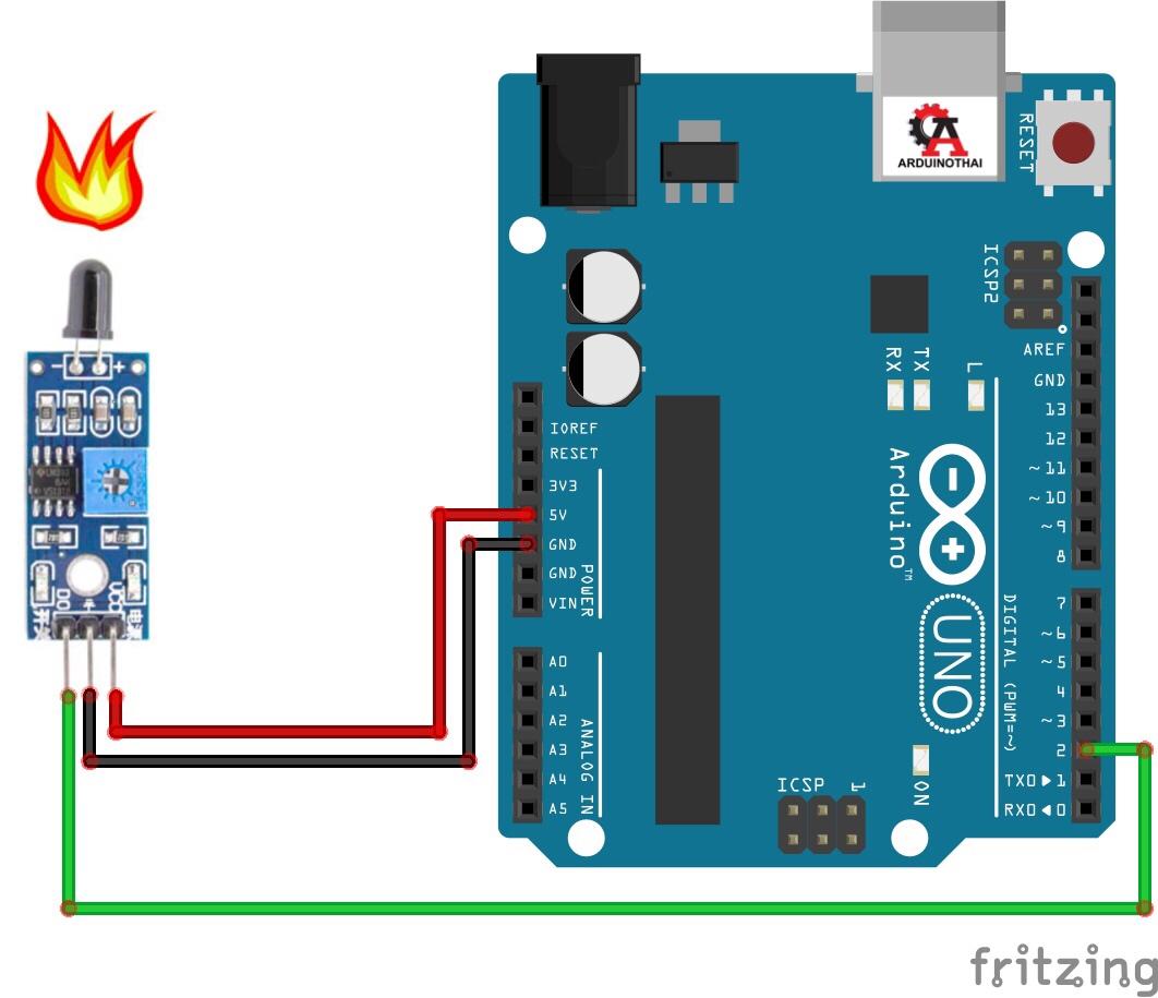 IR Flame Detector Module (เซนเซอร์ตรวจจับเปลวไฟ)