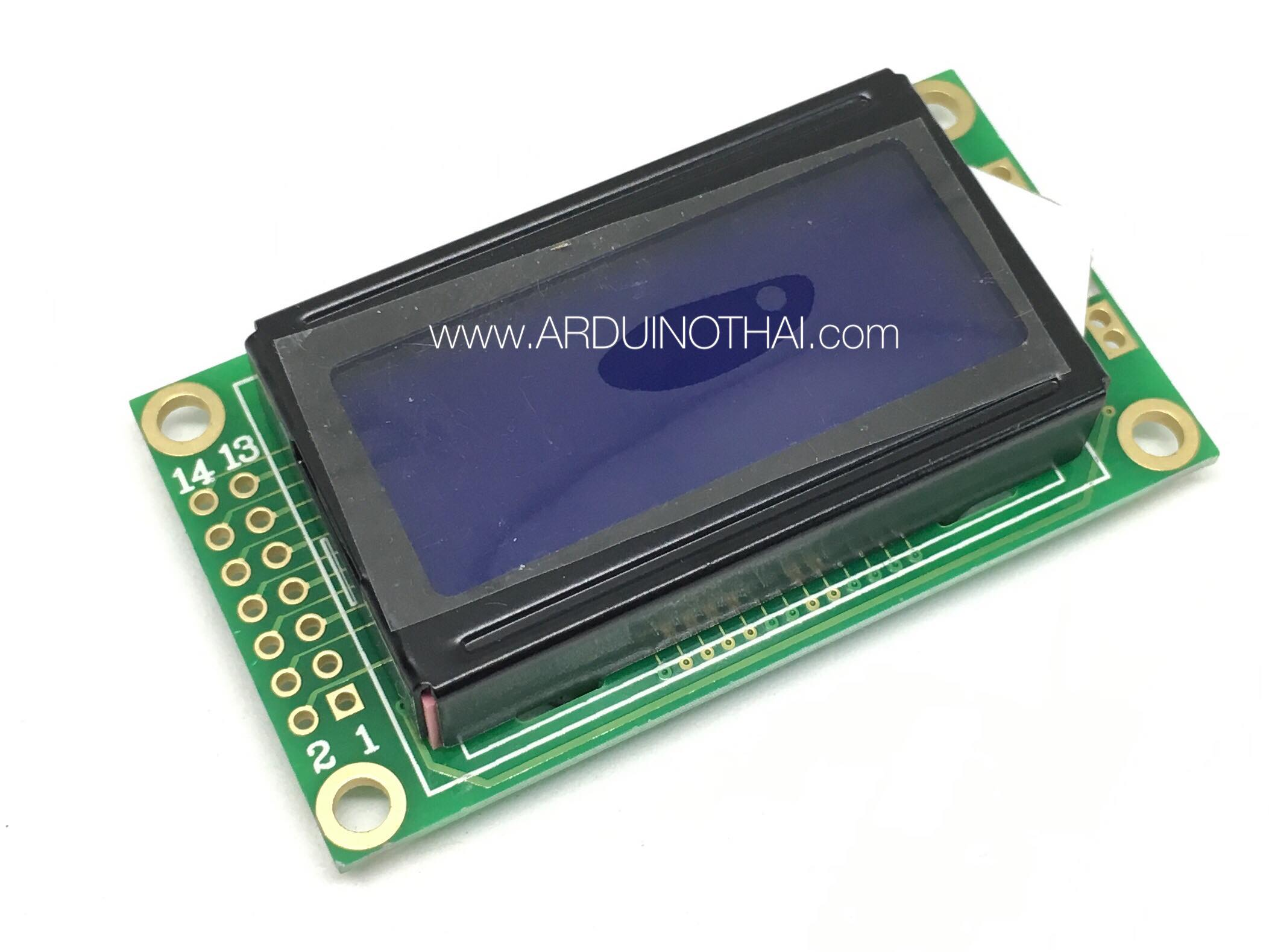 08X02 Character LCD Module Display (Blue Backlight)