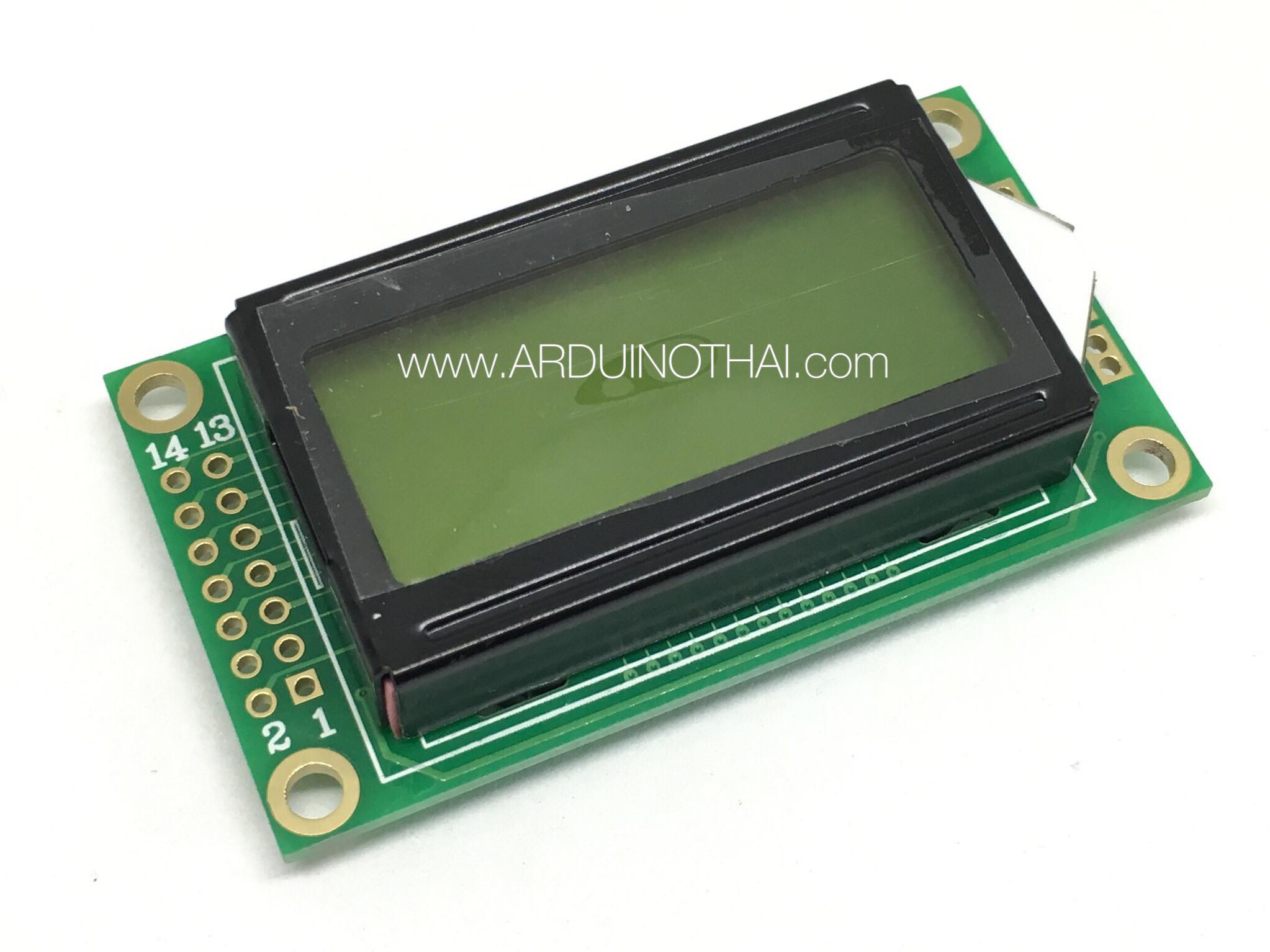 08X02 Character LCD Module Display (Yellow Backlight)