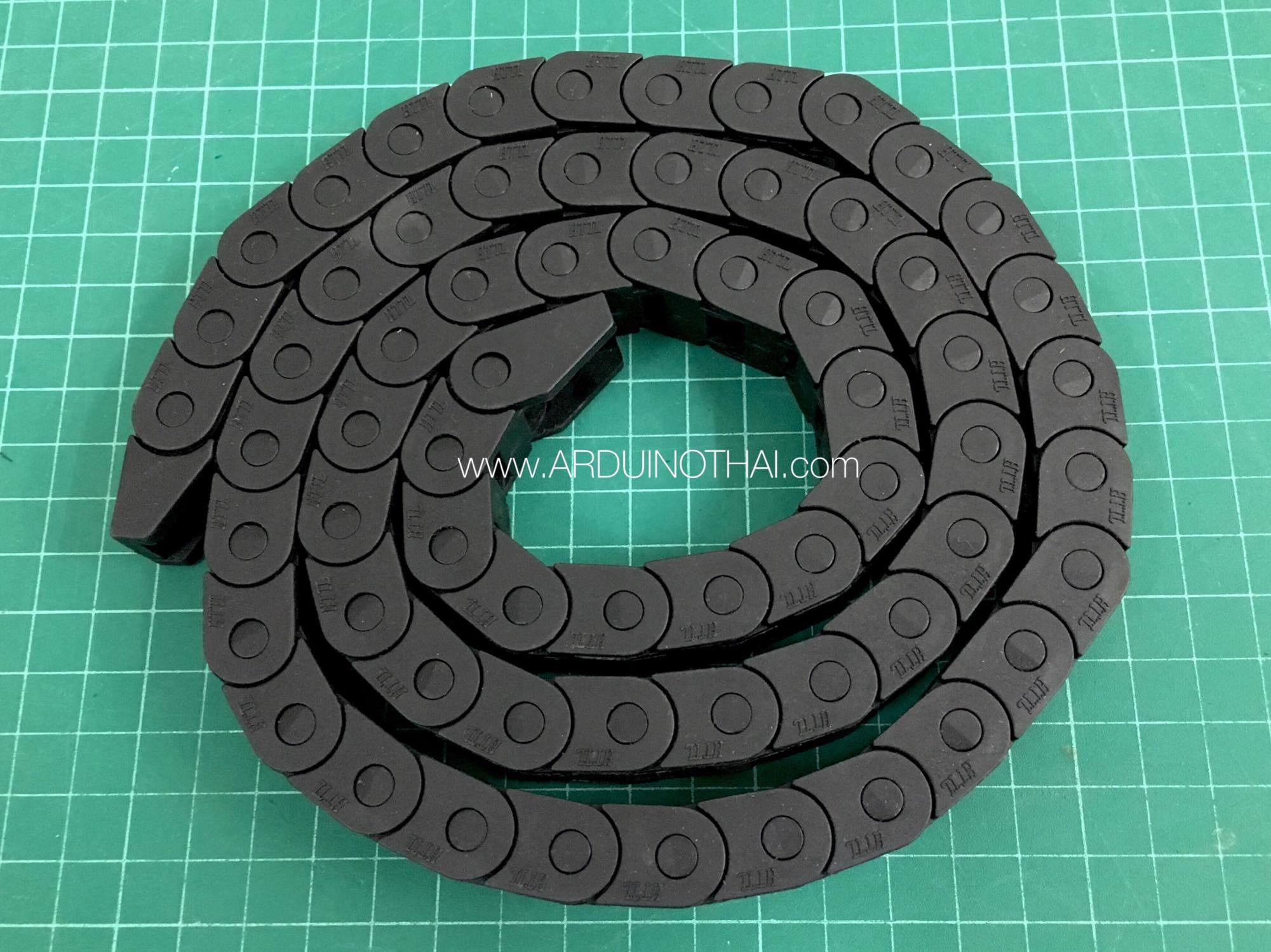 รางกระดูกงู ร้อยสายไฟ Chain carrier cable 10X10mm (ขนาดใหญ่ยาว1เมตร)