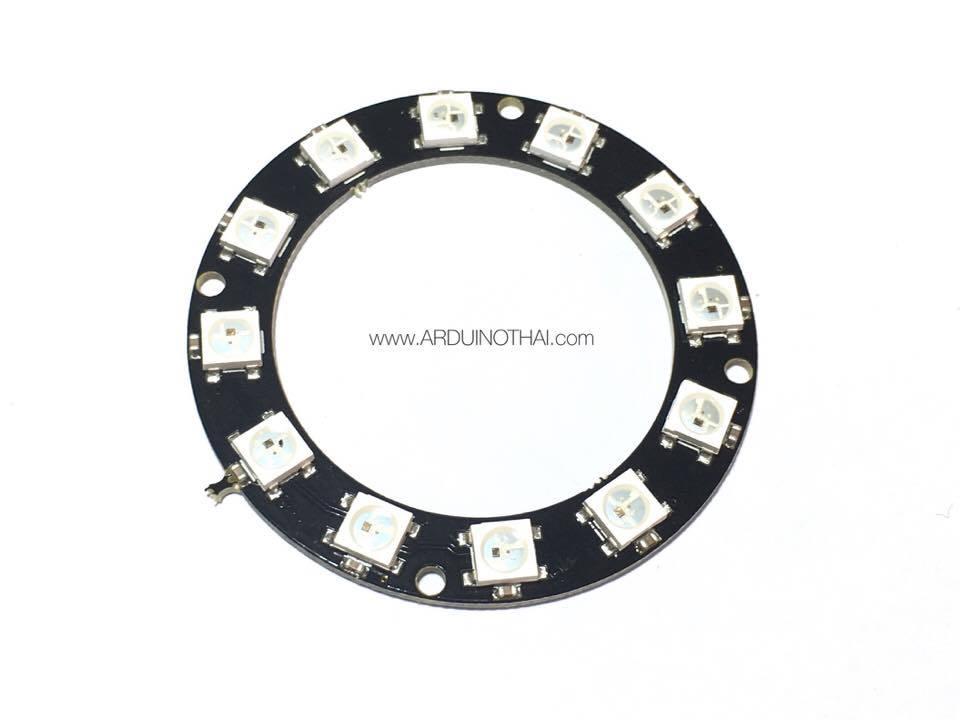 12xWS2812 5050 RGB LED RING(วงแหวน RGB LED 12ดวง)