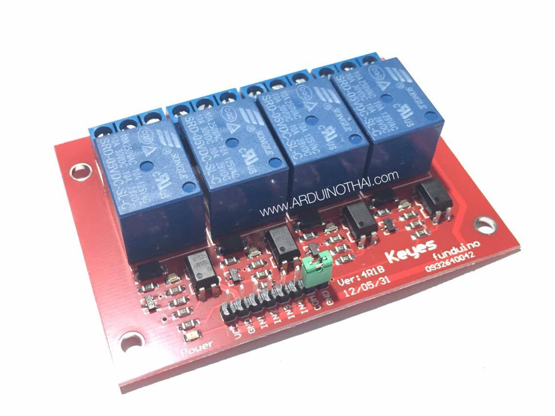 4 Channel 5V High Level Trigger Relay Module