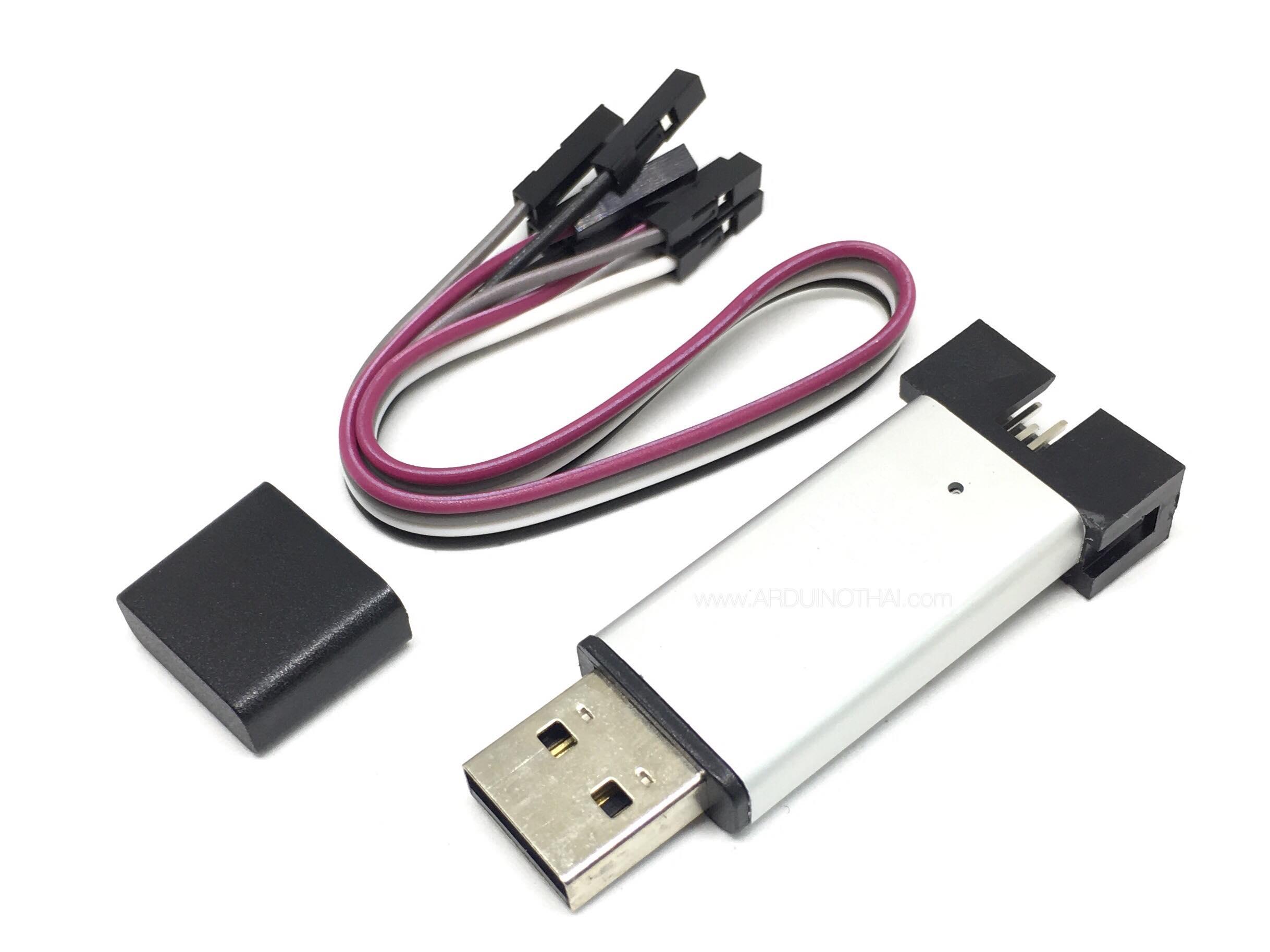 STLINK V2 Downloader STM8/STM32 สีเงิน