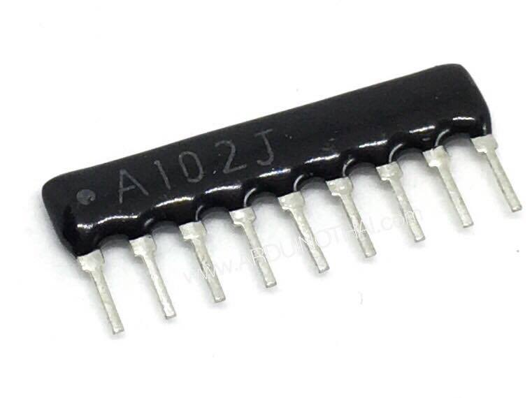 Resistor Network Array 9pin (1K) จำนวน 5ตัว