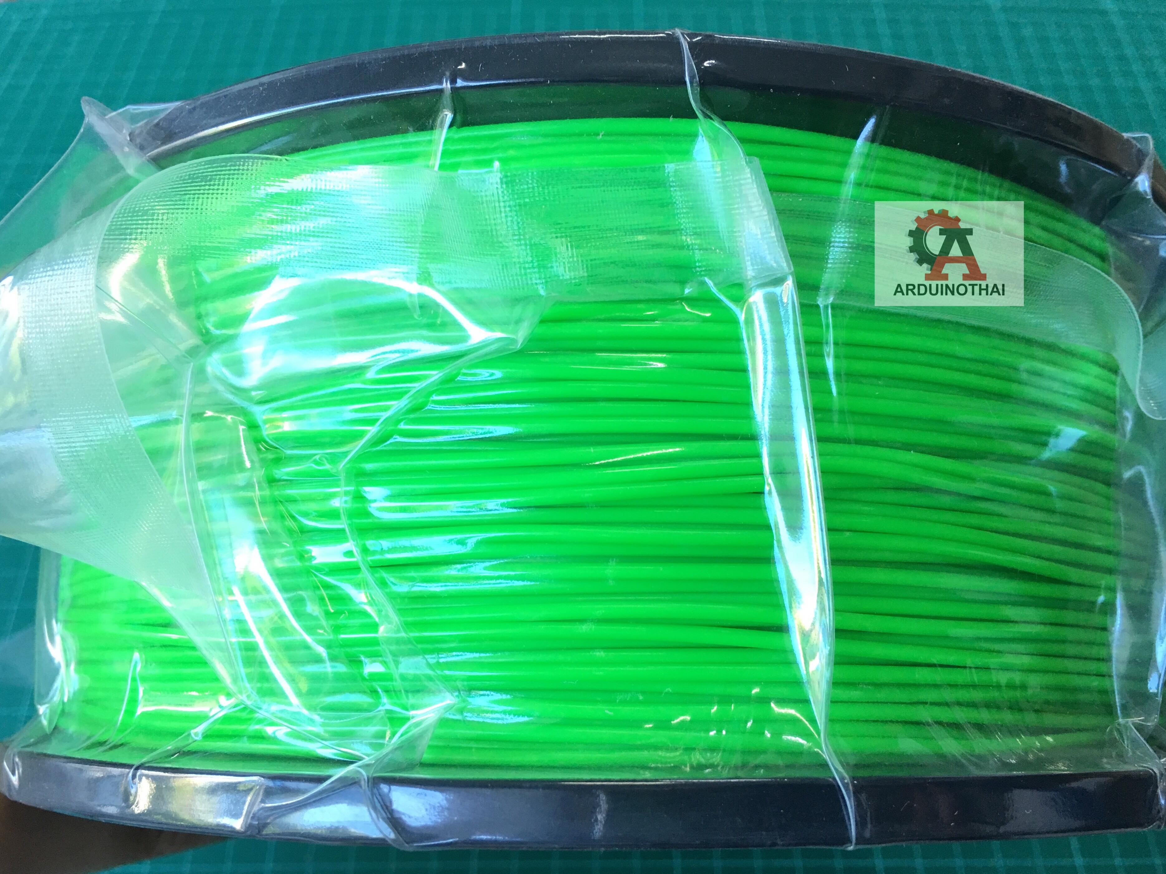 เส้นวัสดุ ABS ม้วนละ 1 กิโลกรัม (GREEN)