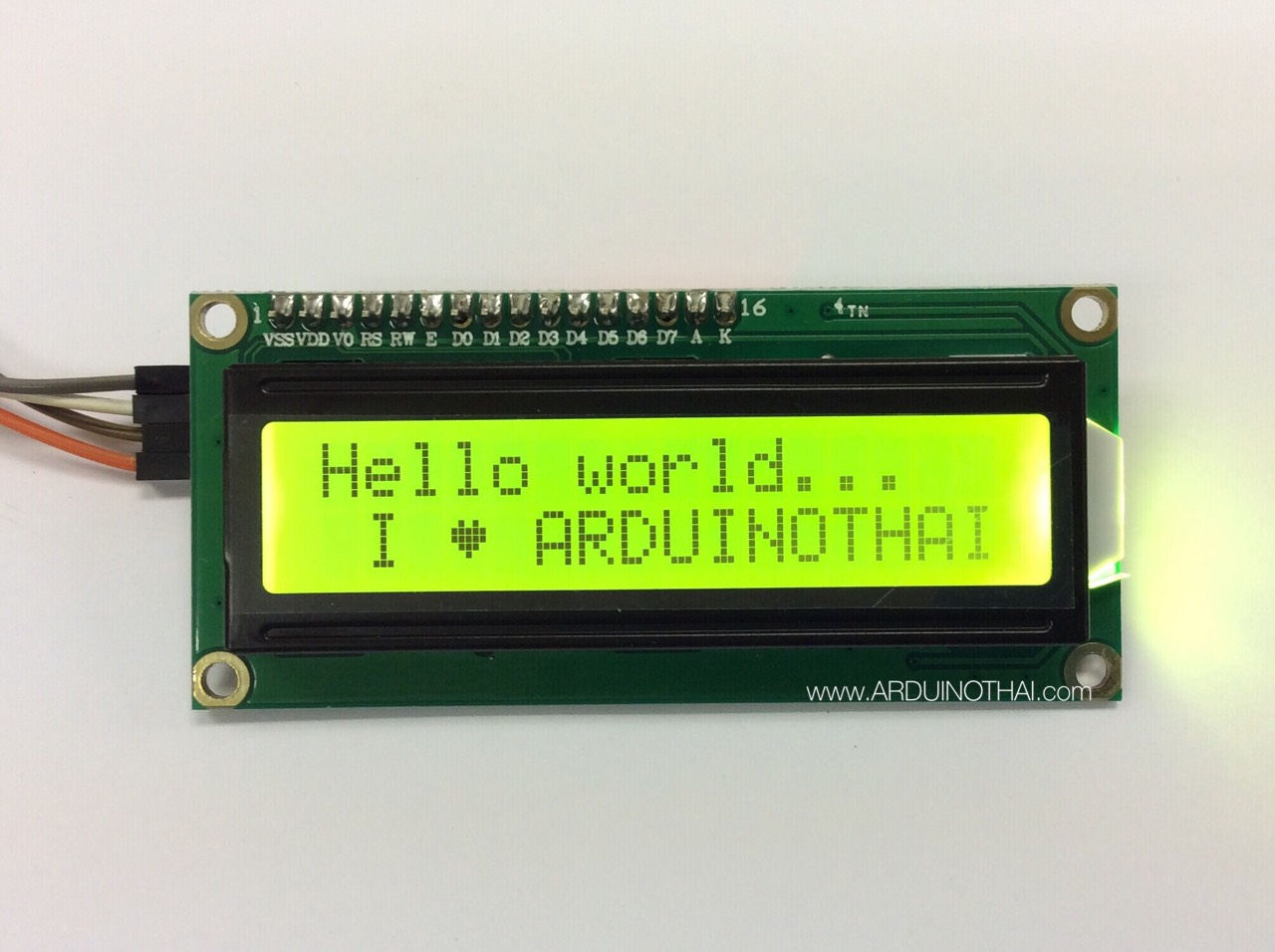 1602 LCD With I2C Interface (Yellow Screen)