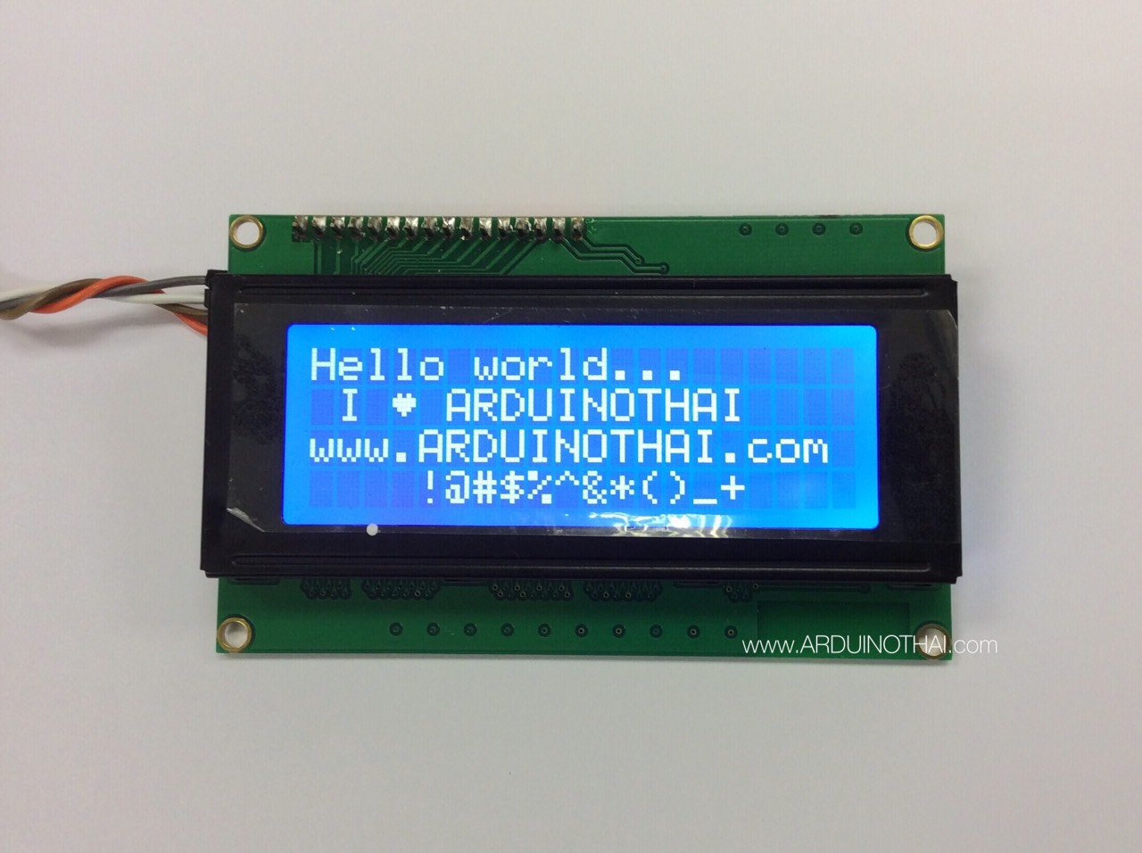 2004 LCD With I2C Interface (Blue Screen)