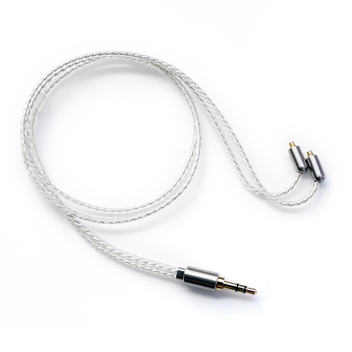 ขาย DD BC50-B สายเปลี่ยนหูฟังเกรดทองแดงชุบเงินถัก 7N OCC ความยาว 50CM