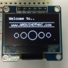 "OLED Display Module White (SPI 128X64 pixcel 0.96"")"