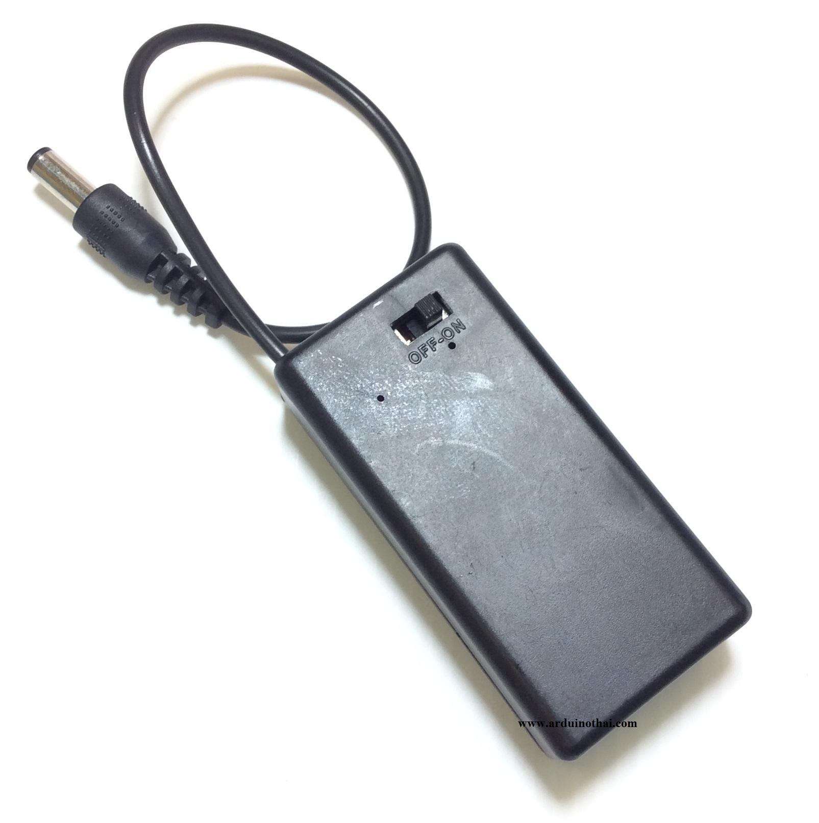 รางถ่าน 9V (มี ฝาปิด สวิตซ์ และ Power Connector)