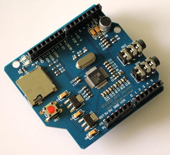VS1053 MP3 module with amplifier module