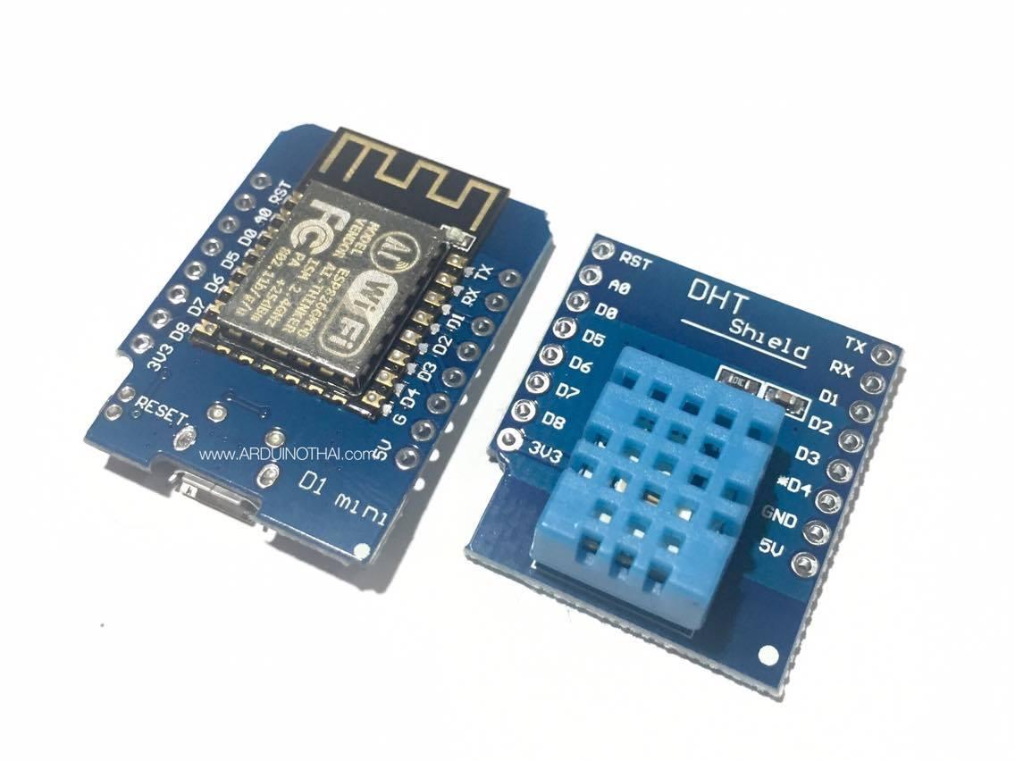 WeMos D1 Mini + DHT11 Shield (ESP8266 Development Board)
