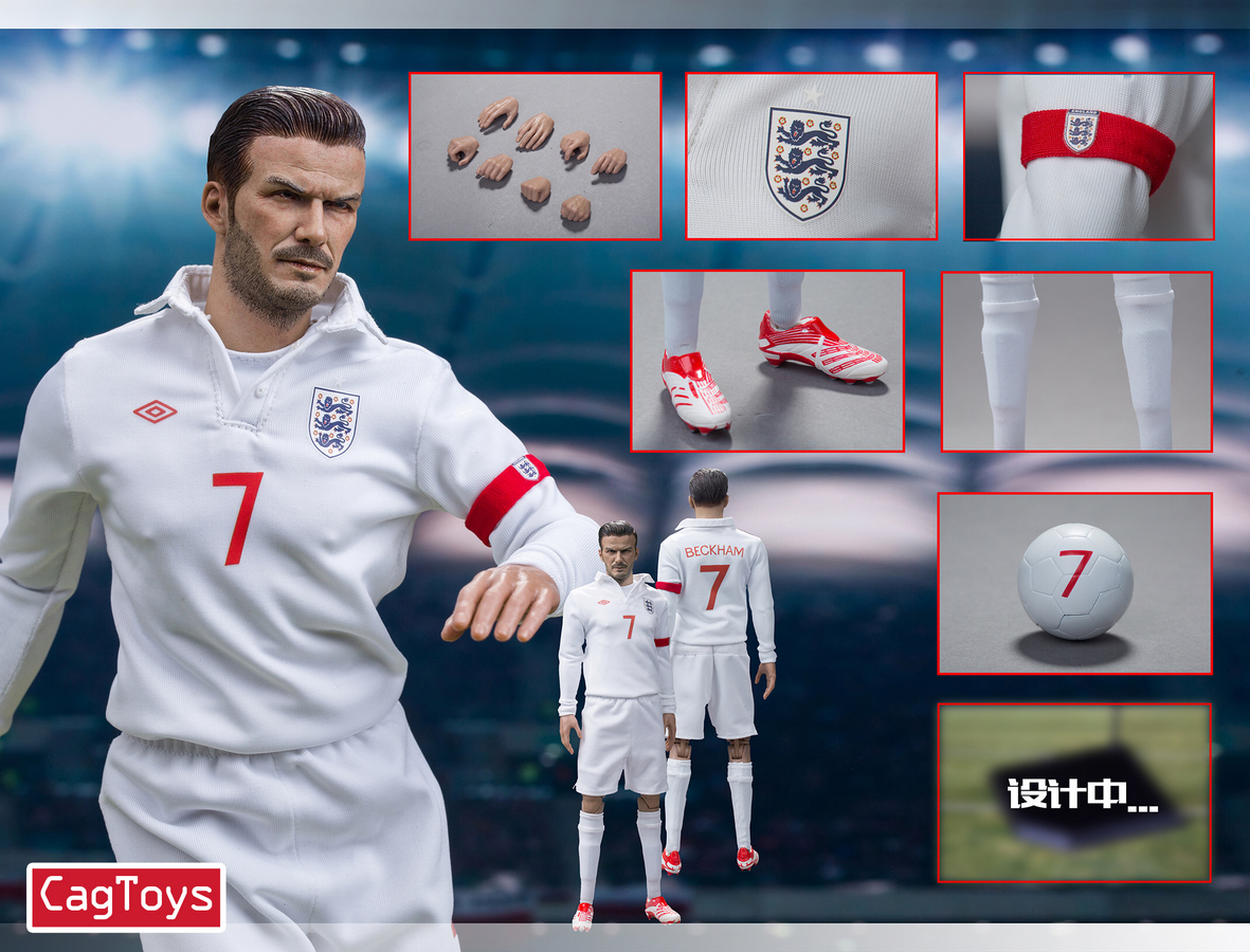 """1//6 Scale Male Football Clothes 17 Beckham for 12/"""" Hot Toys Figure Body"""