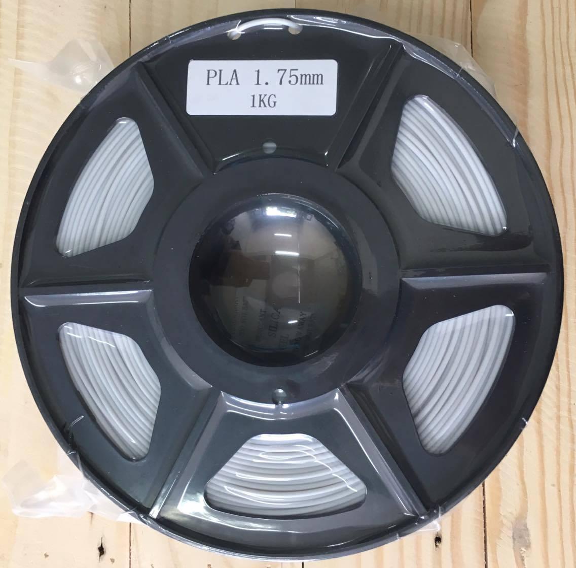 เส้นวัสดุ PLA ม้วนละ 1 กิโลกรัม (สีเทาอ่อน)