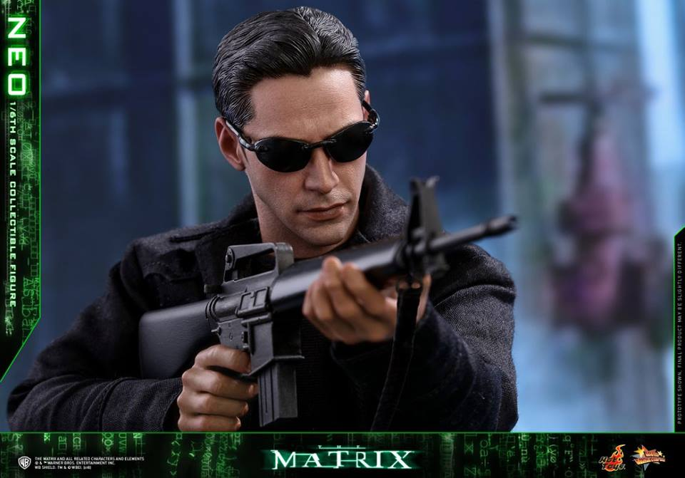 "1//6 Scale The Matrix Keanu Reeves Neo Head Sculpt W//Sunglasses for 12/"" Figures"