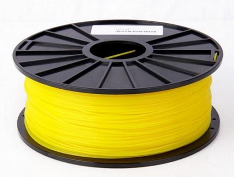 เส้นวัสดุ PLA ม้วนละ 1 กิโลกรัม (สีเหลือง)